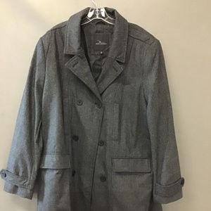Marc Anthony Tweed Wool Pea Coat NWT